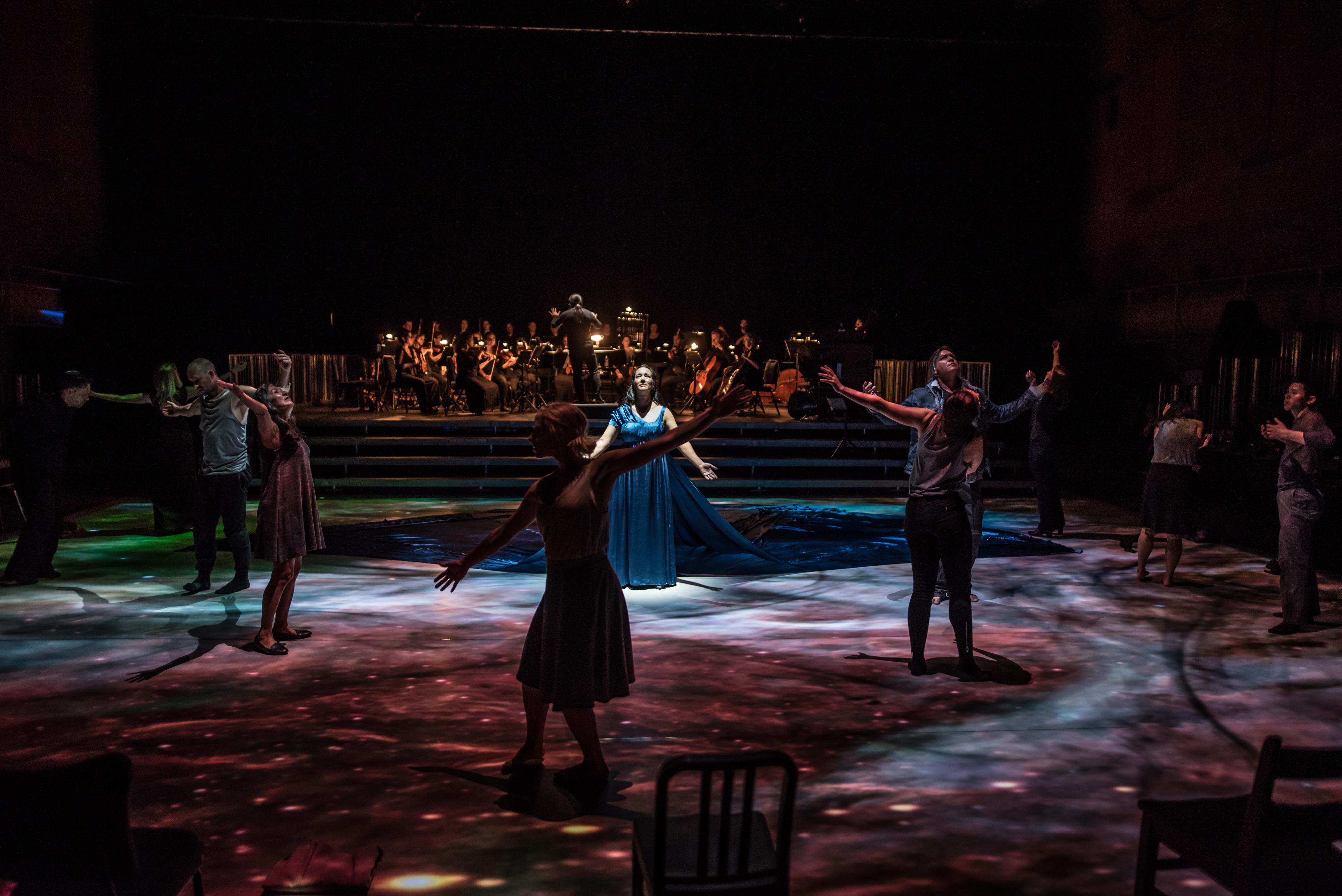 Bearing, dance-opera co-directed by Yvette Nolan and Michael Greyeyes. Photo by Dahlia Katz